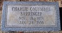 Barringer, Charlie Columbus