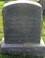 Barbee, James F and N Ellen Burris