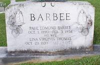 Barbee, Paul Edmond and Lina Virginia Thomas
