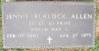 Allen, Jennie Blalock MILITARY