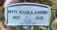 Almond, Betty Blalock FH Marker